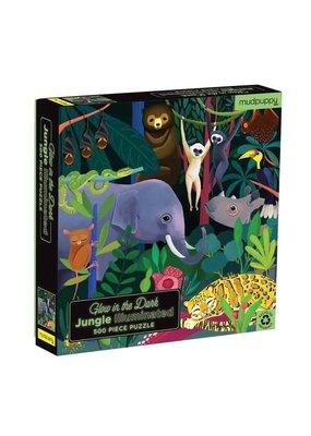 Mudpuppy Glow in the Dark Puzzle Jungle 500pc