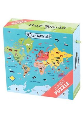 Mudpuppy Jumbo Puzzel Our World 25pc