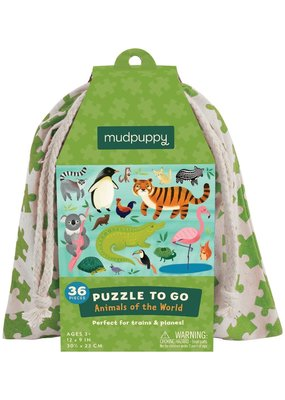 Mudpuppy Puzzel To Go Animals Of The World 36pc