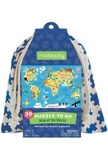Mudpuppy Puzzel To Go Map of world 36 pc