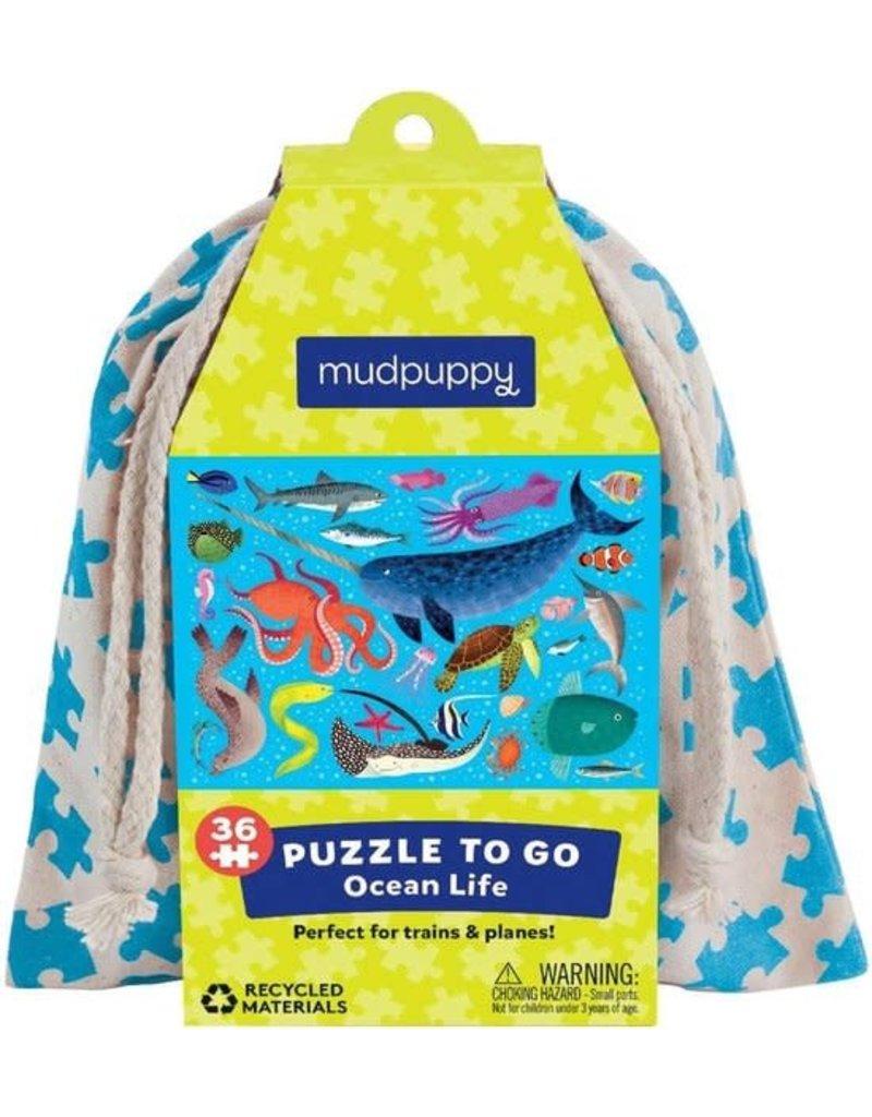 Mudpuppy Puzzel To Go Ocean Life 36pc