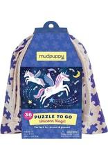 Mudpuppy Puzzel To Go Unicorn Magic 36pc