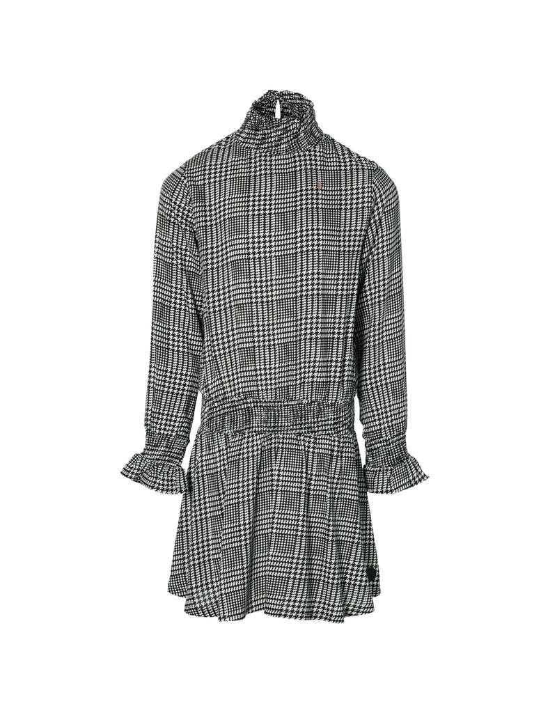 Levv Levv jurk Kaela black white check