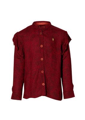 Levv Levv blouse Liva dark red dot
