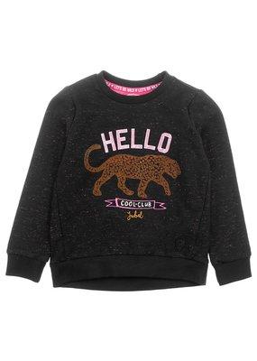 Jubel Jubel sweater Hello - Animal Attitude zwart
