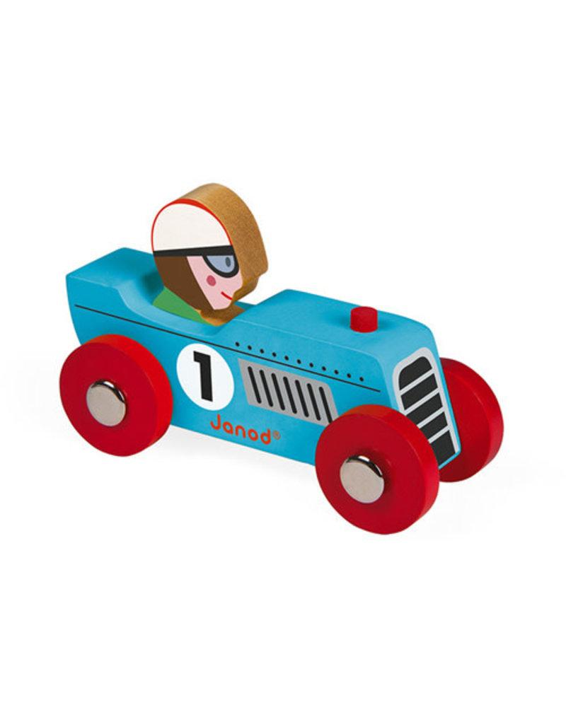 Janod Janod Racing retromotor blauw