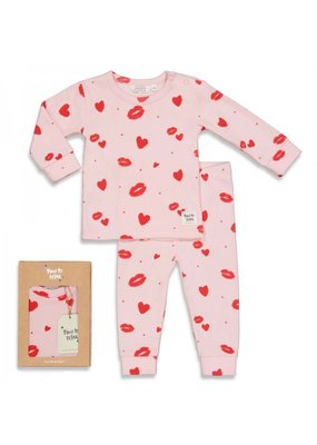 Feetje Feetje pyjama Love lesley Roze