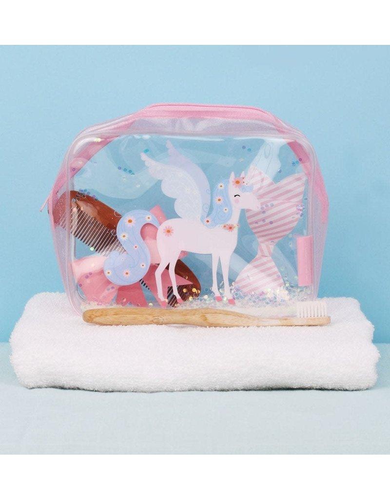 A little lovely compagny Toilettasje Glitter eenhoorn