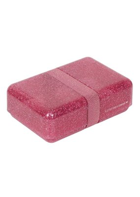 A little lovely compagny Lunchbox glitter roze