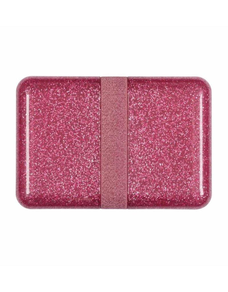 A little lovely compagny Lunchbox glitter roze