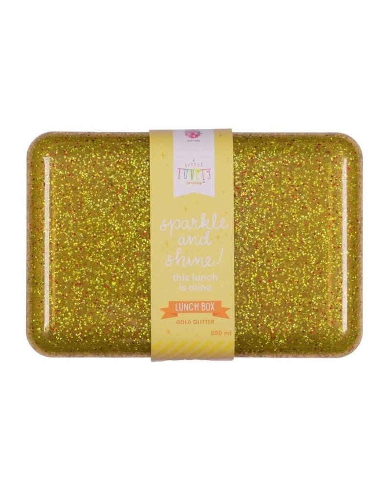 A little lovely compagny Lunchbox glitter goud
