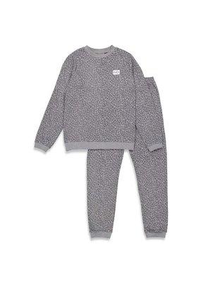 Feetje Feetje wafelpyjama Fashion edition Volwassenen Antraciet