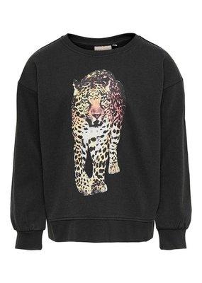 Kids Only Kids Only sweater KONLucinda black leo