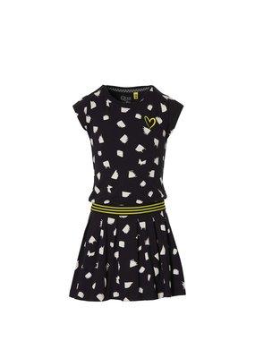 Quapi Quapi jurk Fabia black dot