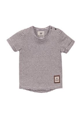 Koko Noko Koko Noko t-shirt ss dark grey + stripes a