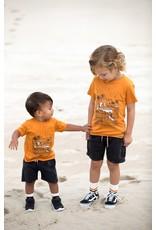 Feetje Feetje shirt Sunset Club Happy Camper okergeel