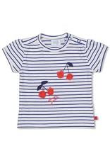 Feetje Feetje shirt streep Cherry Sweetness marine