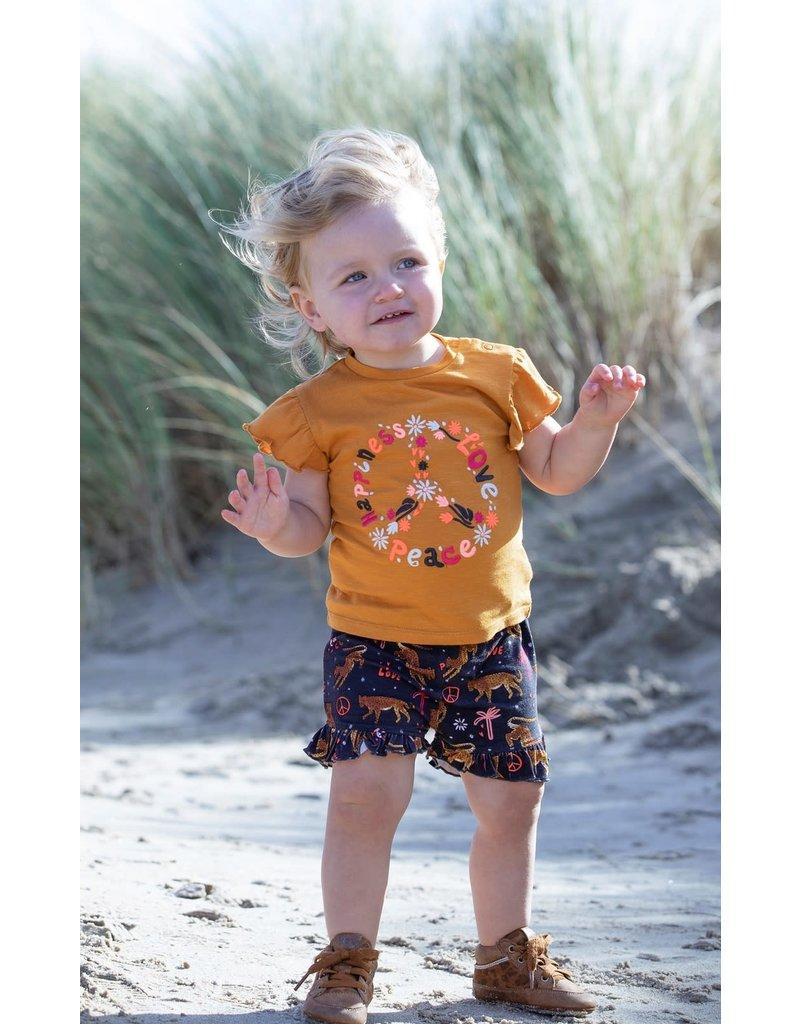 Feetje Feetje shirt Peace Whoopsie Daisy okergeel