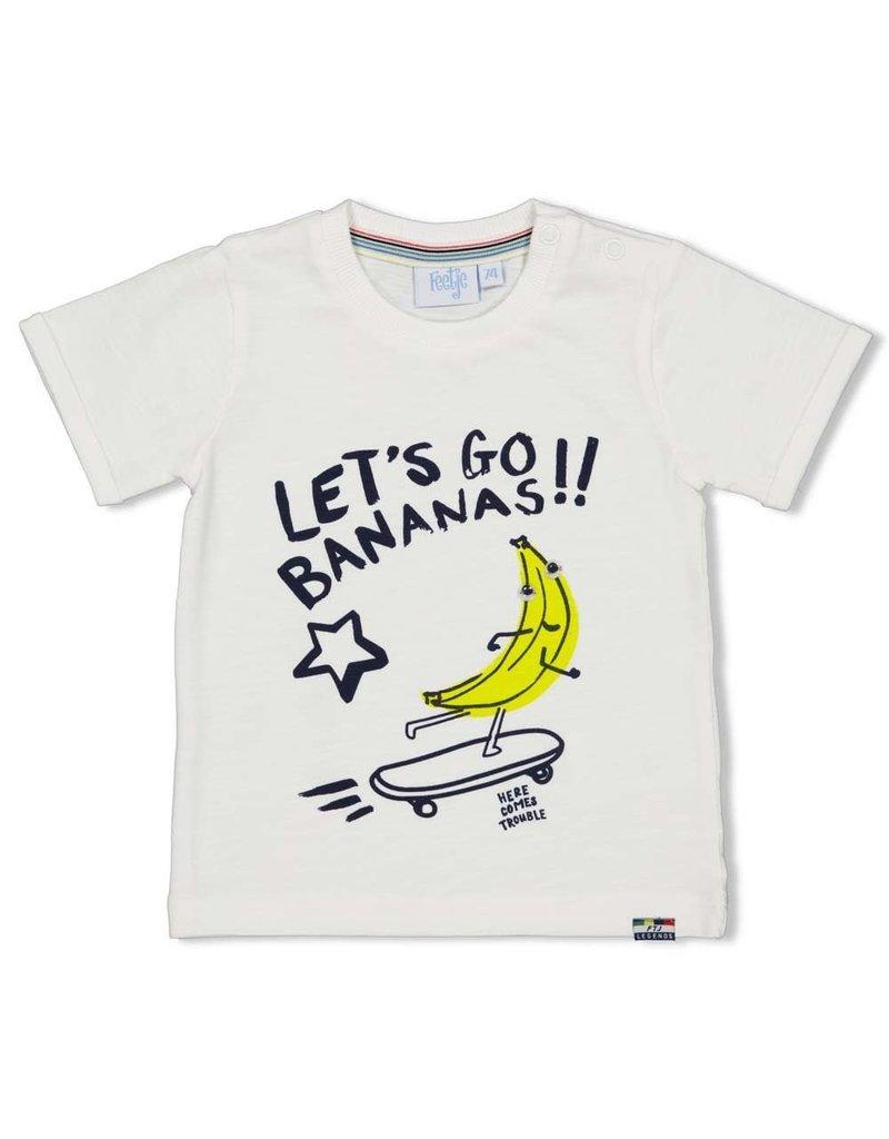 Feetje Feetje shirt Let's Go Playground wit