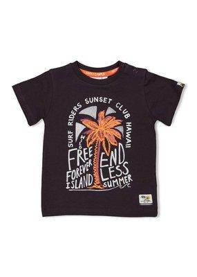 Feetje Feetje shirt Free Happy Camper antraciet
