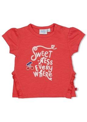 Feetje Feetje shirt Everywhere Cherry Sweetness rood