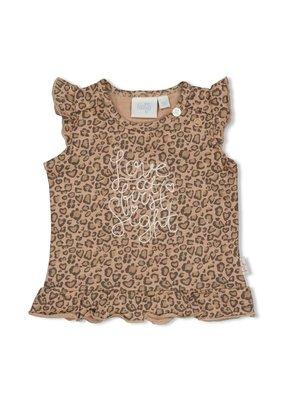 Feetje Feetje shirt aop Panther Cutie zand