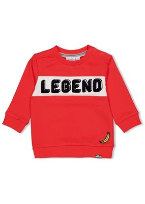 Feetje Feetje sweater Playground rood
