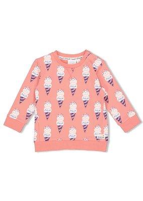 Feetje Feetje sweater AOP Sweet Gelato koraal