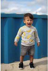 Feetje Feetje sweater AOP Playground grijs melange