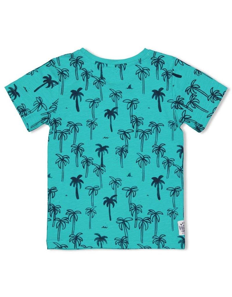 Sturdy Sturdy shirt aop Smile & Wave mint