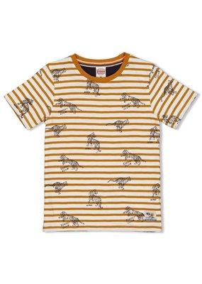 Sturdy Sturdy shirt streep Happy Camper okergeel