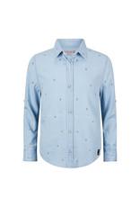 Retour Retour shirt Eloy bleached blue denim