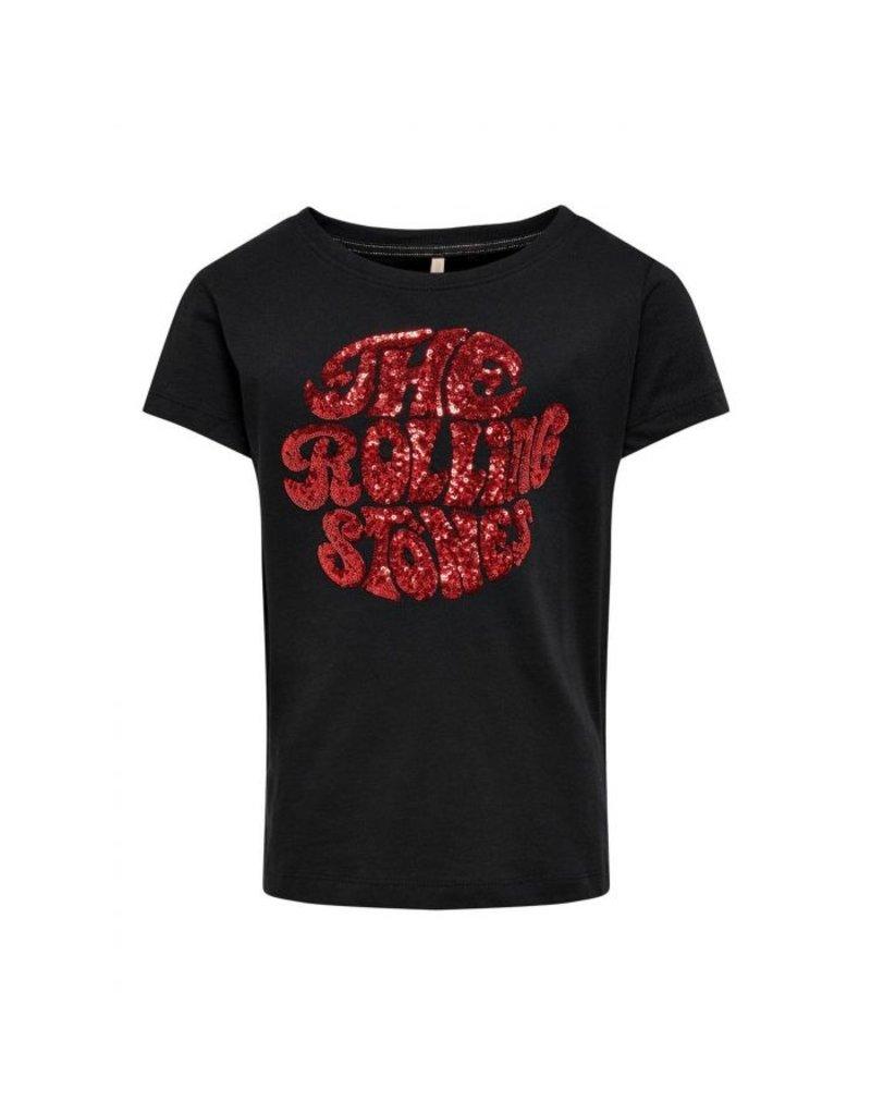 "Kids Only Kids Only shirt Konrolling life black ""tongue"""