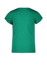 Like Flo Like Flo girls tee open shoulder green