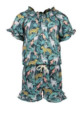 Like Flo Like Flo girls AO leaf jumpsuit short leaf