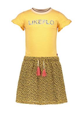 Like Flo Like Flo girls jersey dress with panter skirt honey