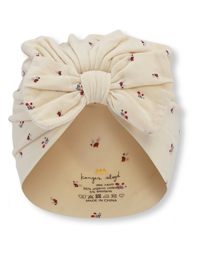 konges slojd Konges Slojd Bambi bonnet mutsje Bloom Red/Blue