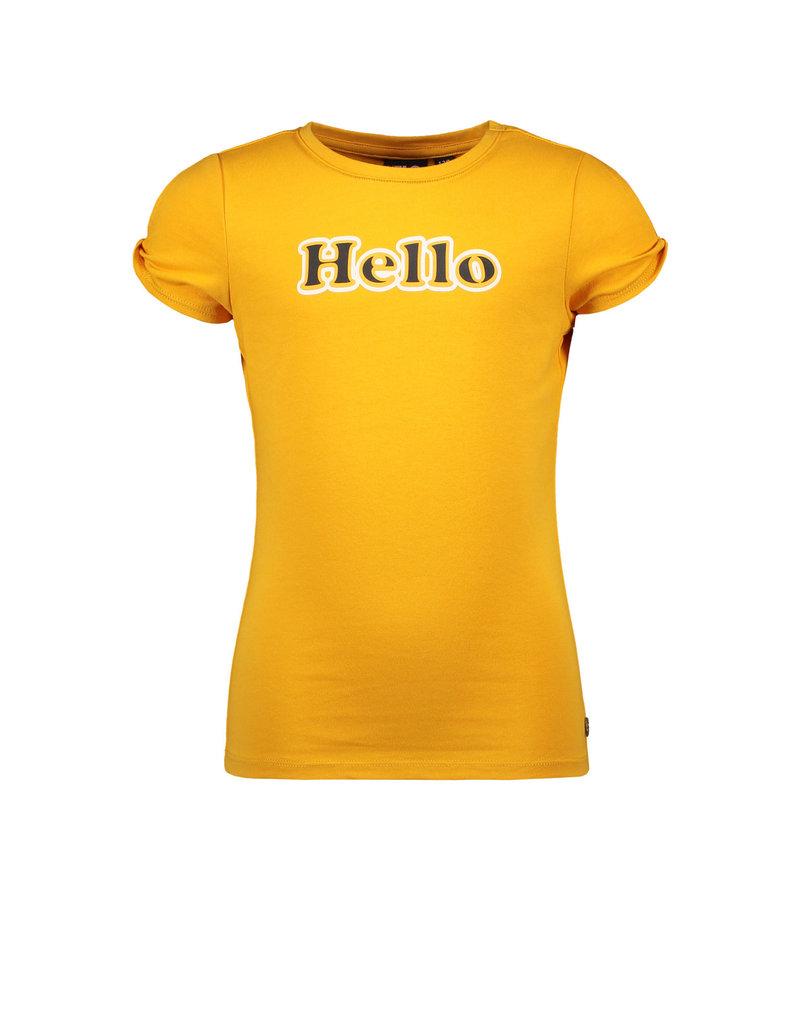 Like Flo Like Flo girls jersey tee open shoulder roll sunflower