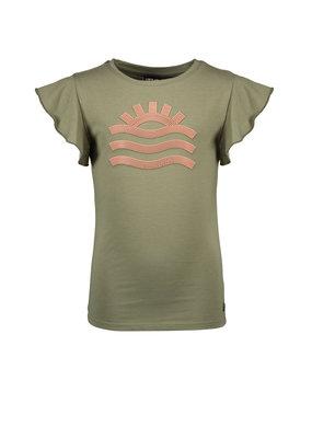 Like Flo Like Flo girls jersey tee ruffle slv army