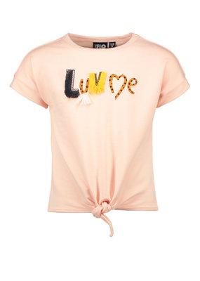 Like Flo Like Flo girls sweat knotted shirt pink