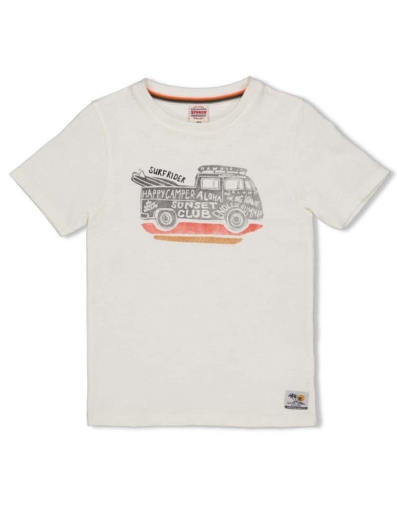 Sturdy Sturdy shirt Happy Camper offwhite
