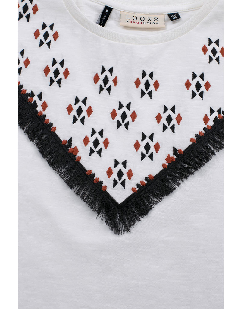Looxs Looxs t-shirt with embroidery white lilly