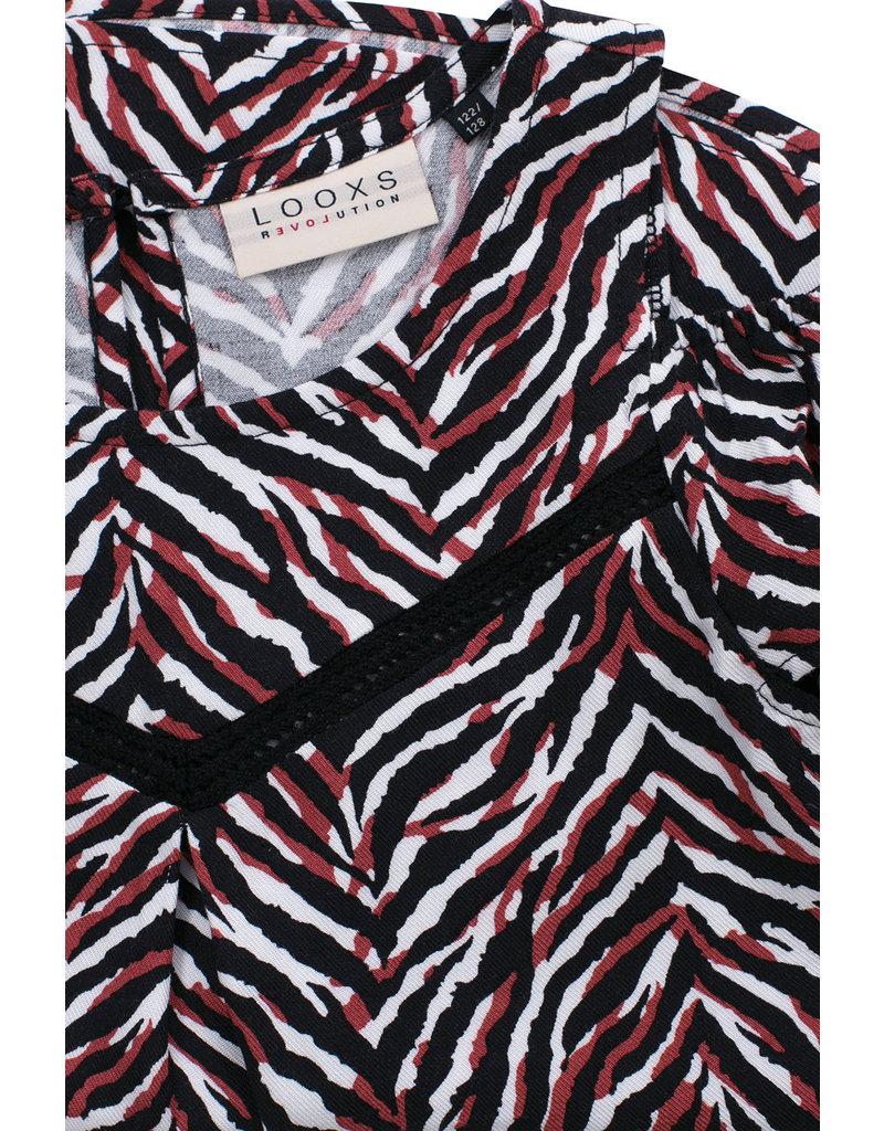 Looxs Looxs woven printed top zebra