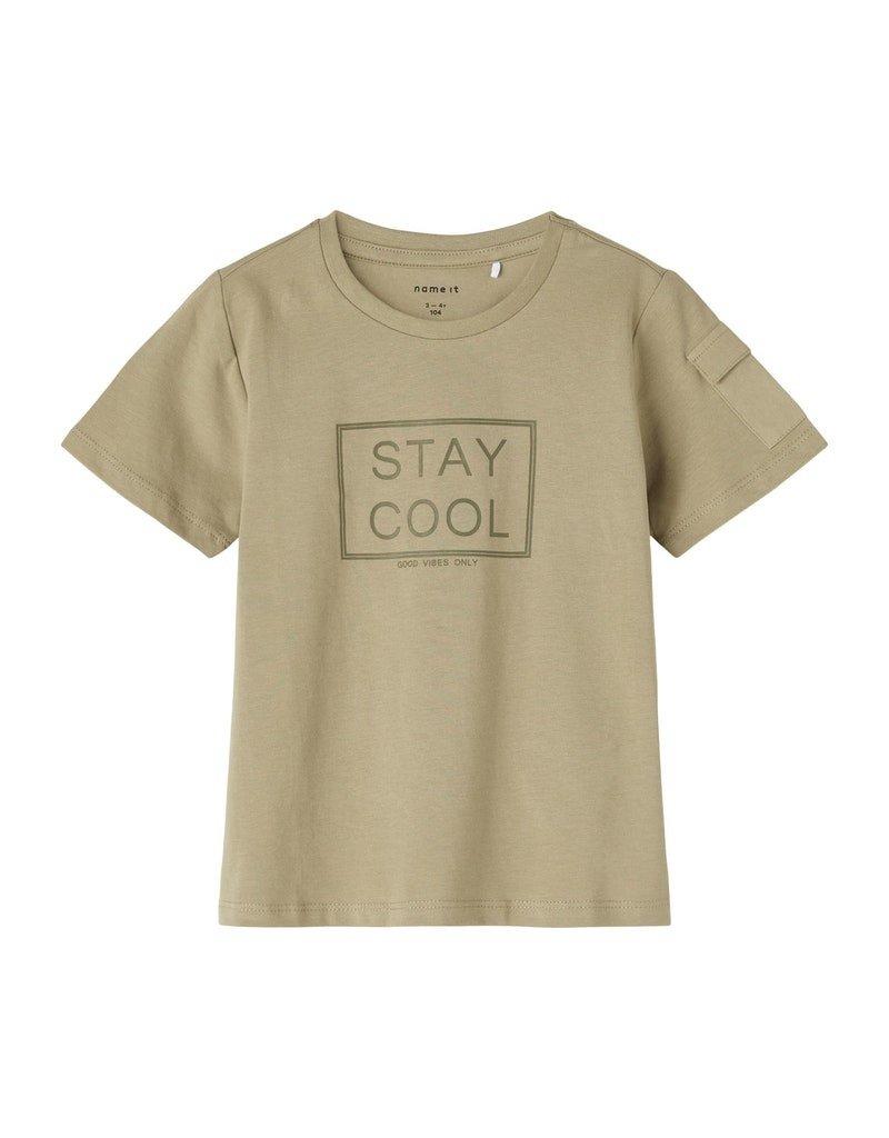 Name-it Name-it shirt NMMHannifal silver sage
