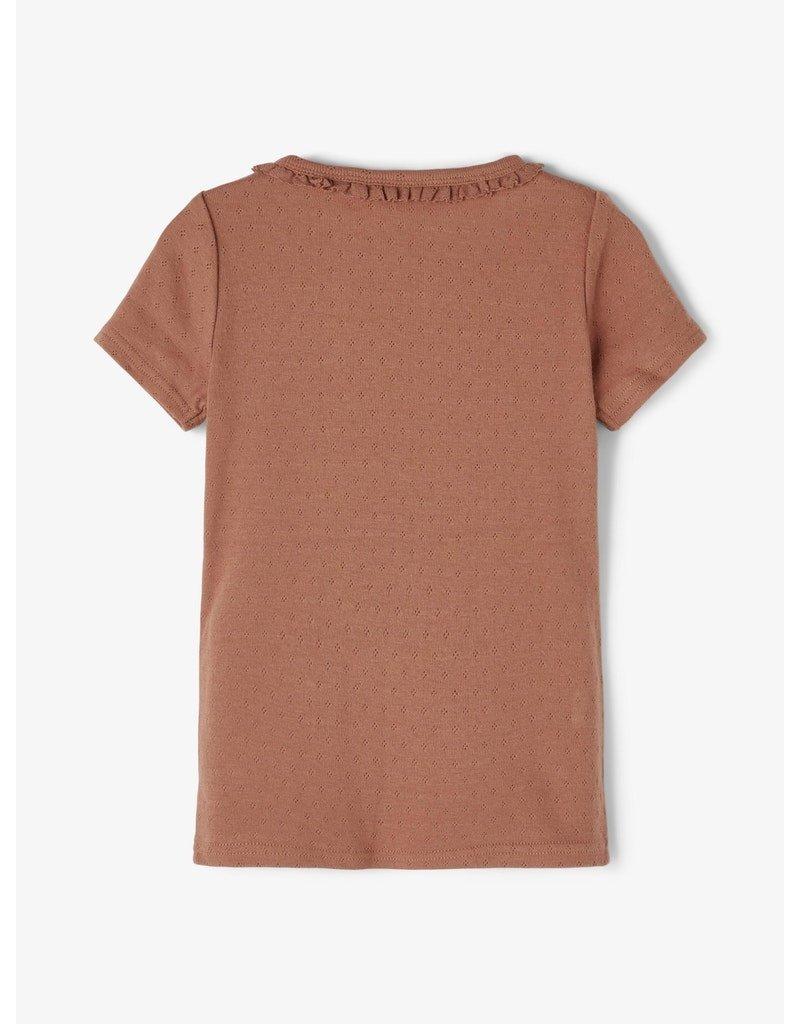 Lil' Atelier Lil' Atelier shirt NMFSafran carob brown