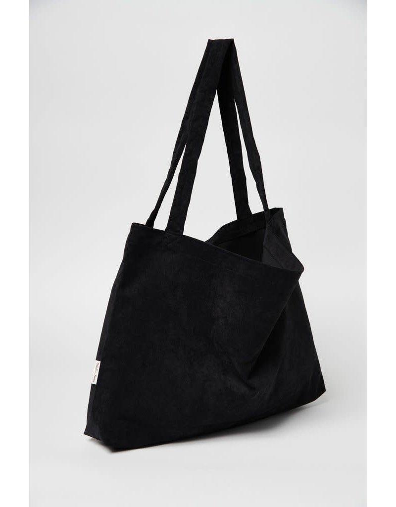 Studio Noos Studio Noos All black rib mom bag