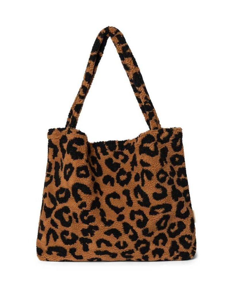 Studio Noos Studio Noos LIMITED EDITION Teddy leopard brown mom bag