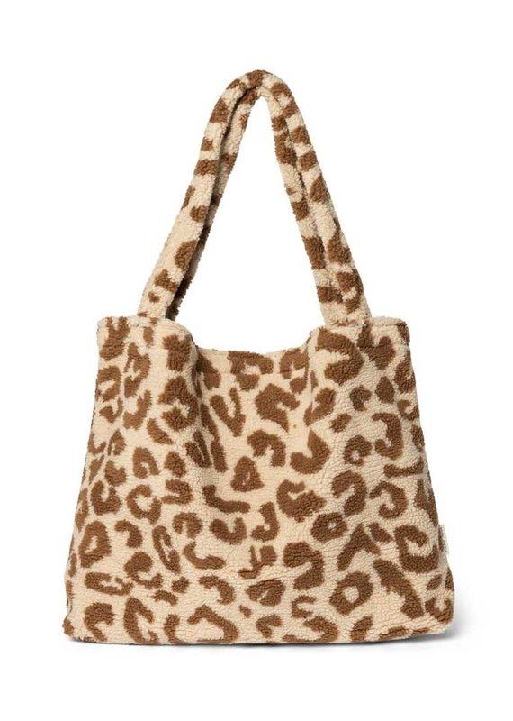 Studio Noos Studio Noos Teddy leopard ecru mom bag