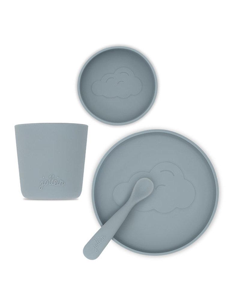 Jollein Dinerset siliconen storm grey
