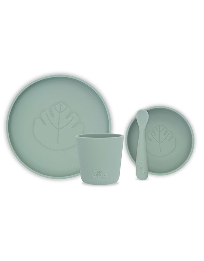 Jollein Dinerset siliconen ash green